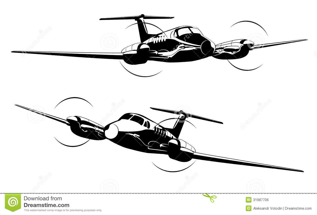 Civil Utility Aircraft Stock Vector Image Of Aerial