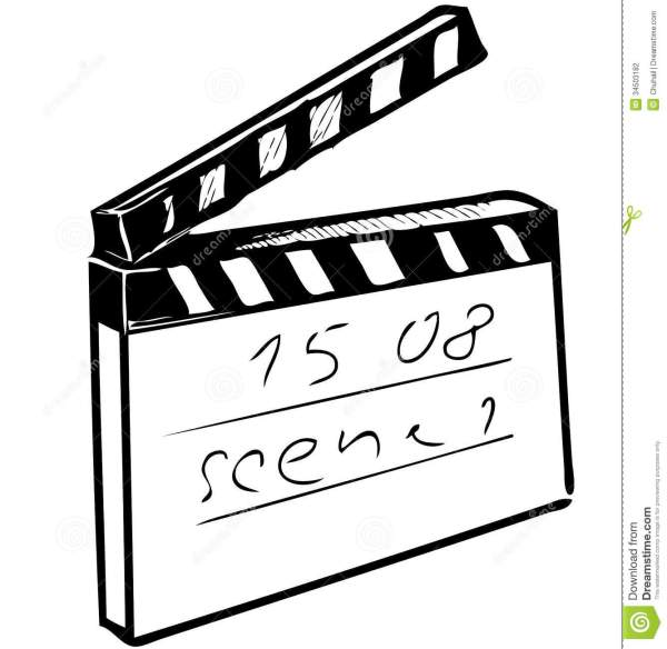 Clapperboard Isolated On White Stock Vector - Image: 34503182