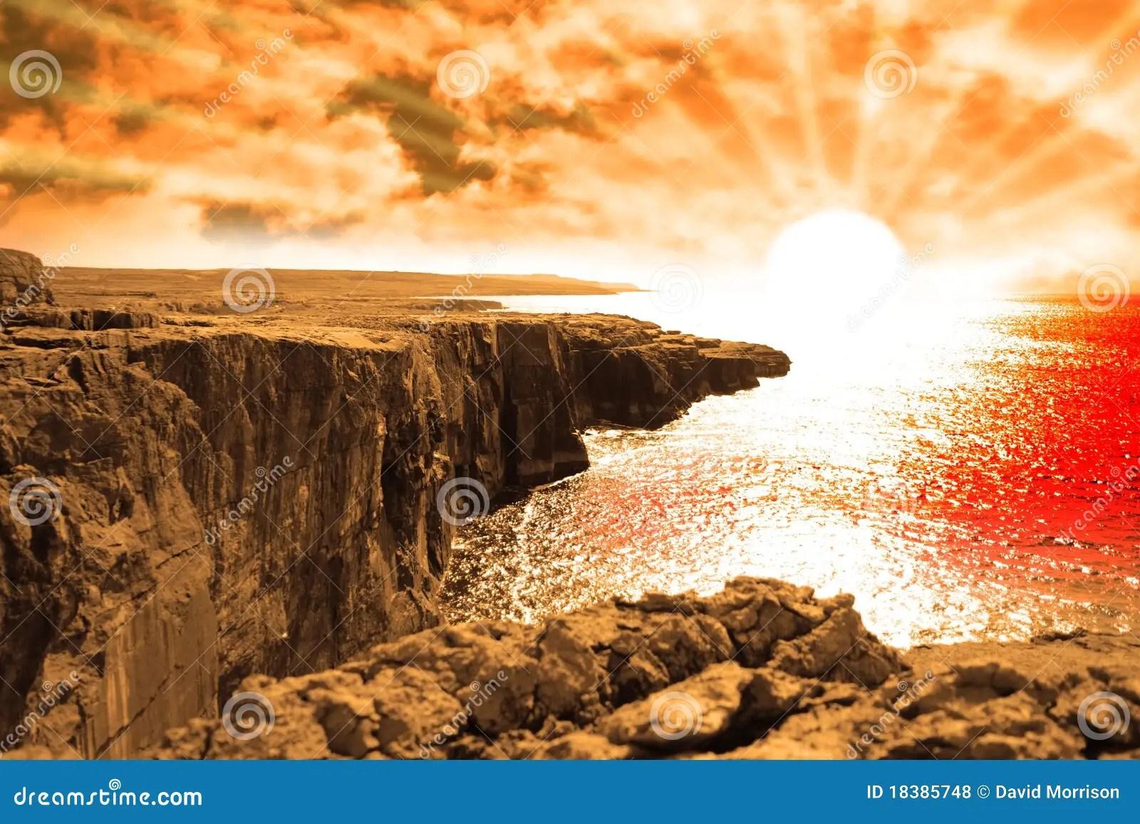 Red Landscape Stone