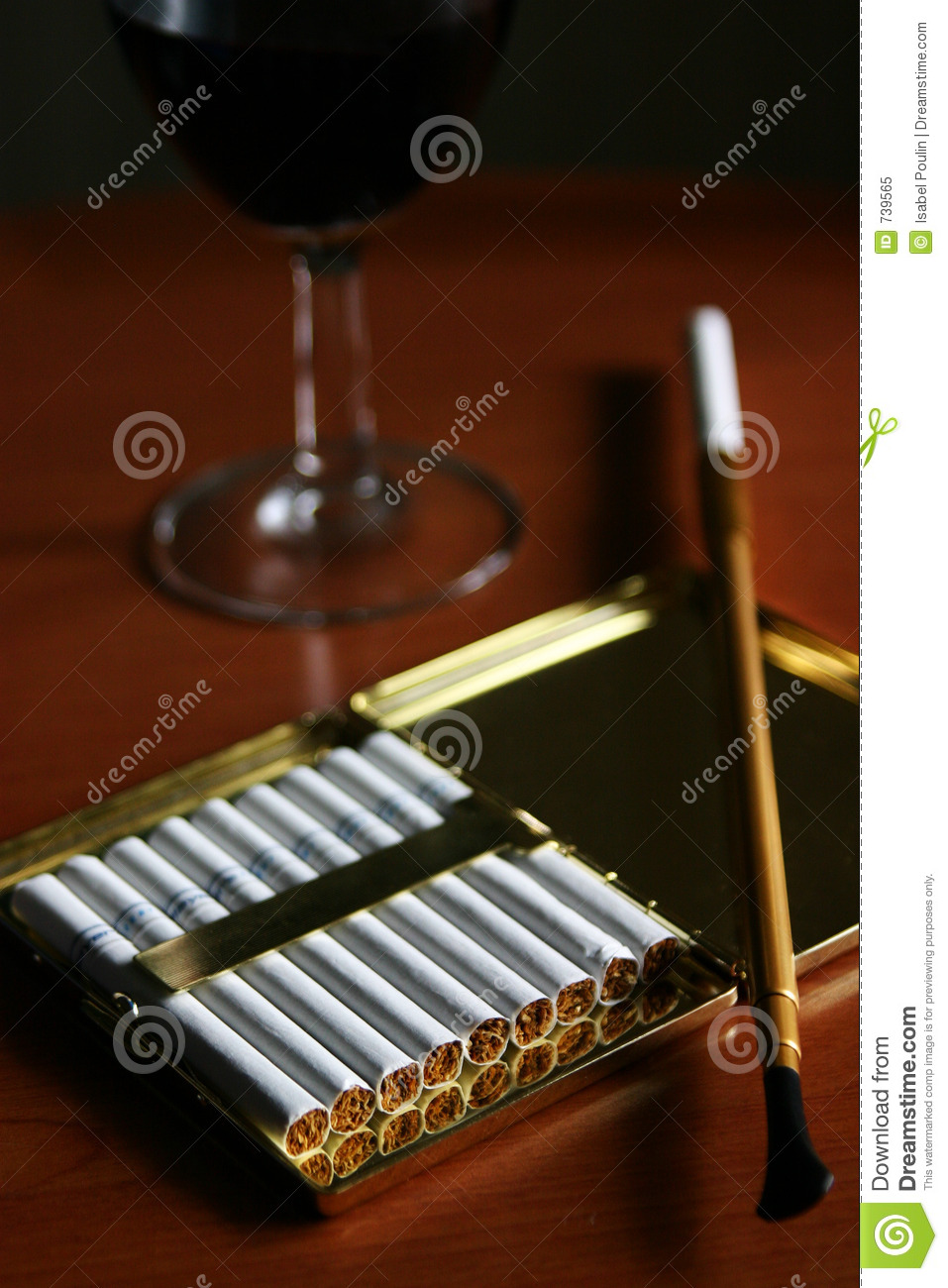 Classic Cigarette Holder Royalty Free Stock Photo Image