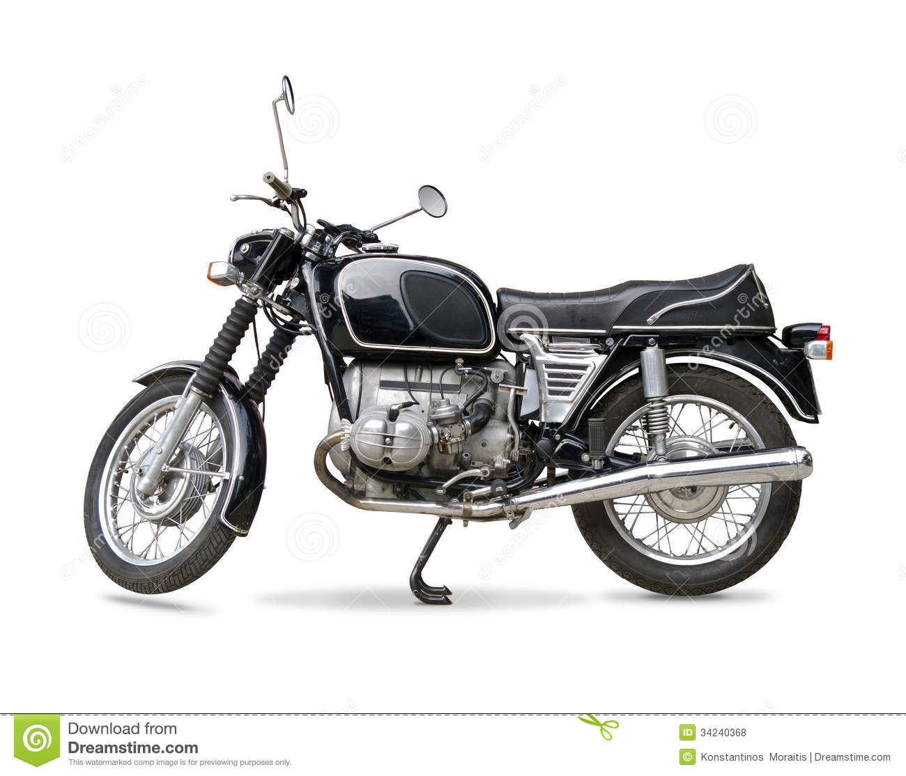 Classic Motorcycle Royalty Free Stock Photos