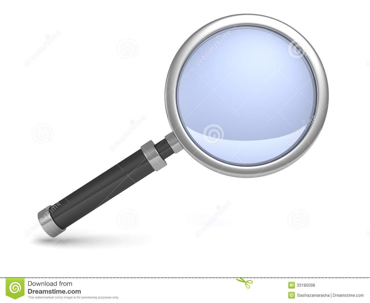 Classic Science Magnifying Glass Icon On White Royalty
