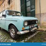 Classic Vintage Car Quatrelle Vert 1980 Renault R4 Tl Parked In City Editorial Stock Image Image Of Front Beautiful 141559659