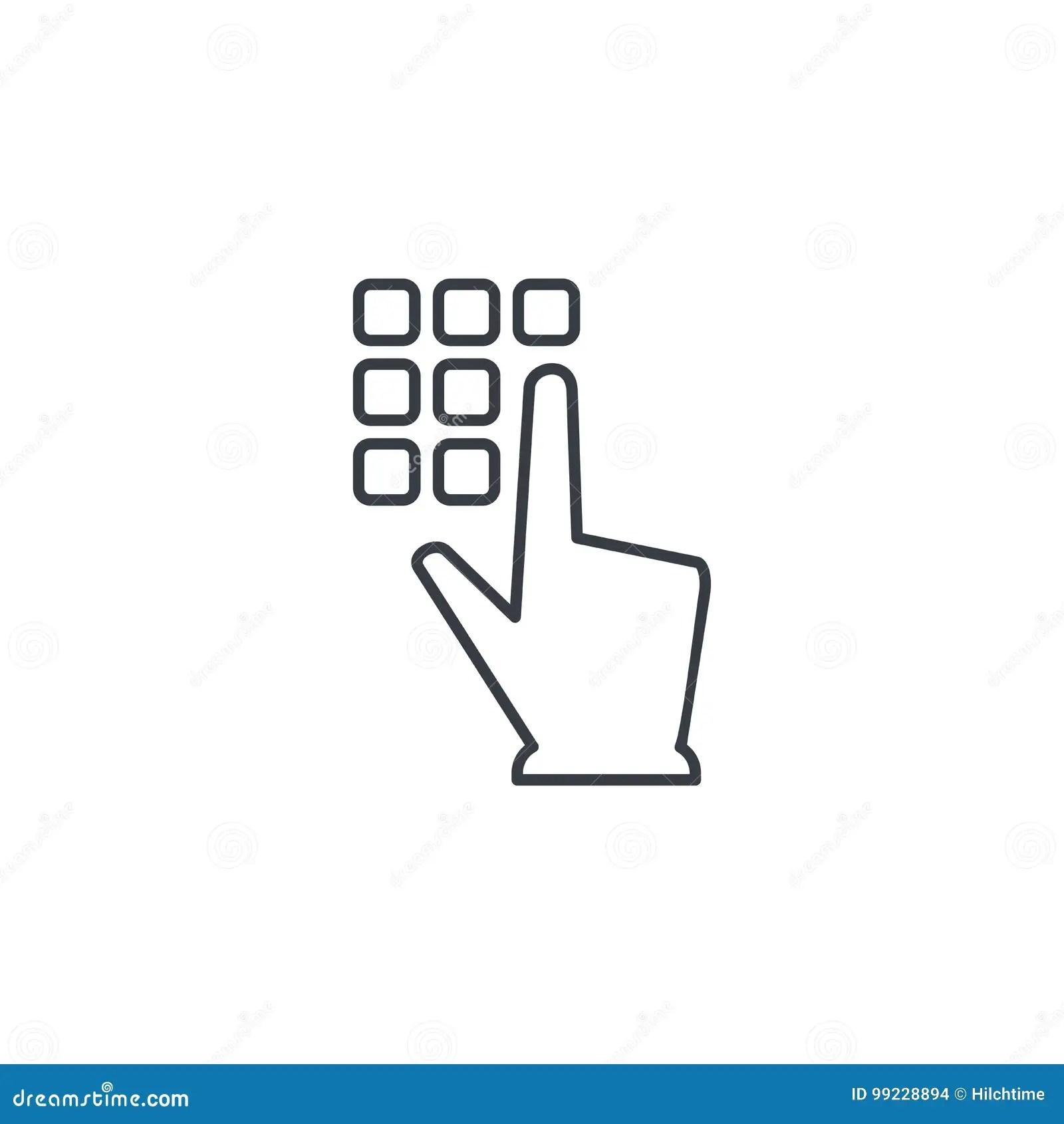 Clavier Numerique De Code De Pin Serrure De Securite D