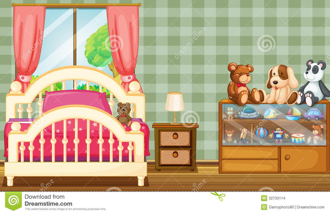A Clean Bedroom With A Lot Of Toys Stock Images Image