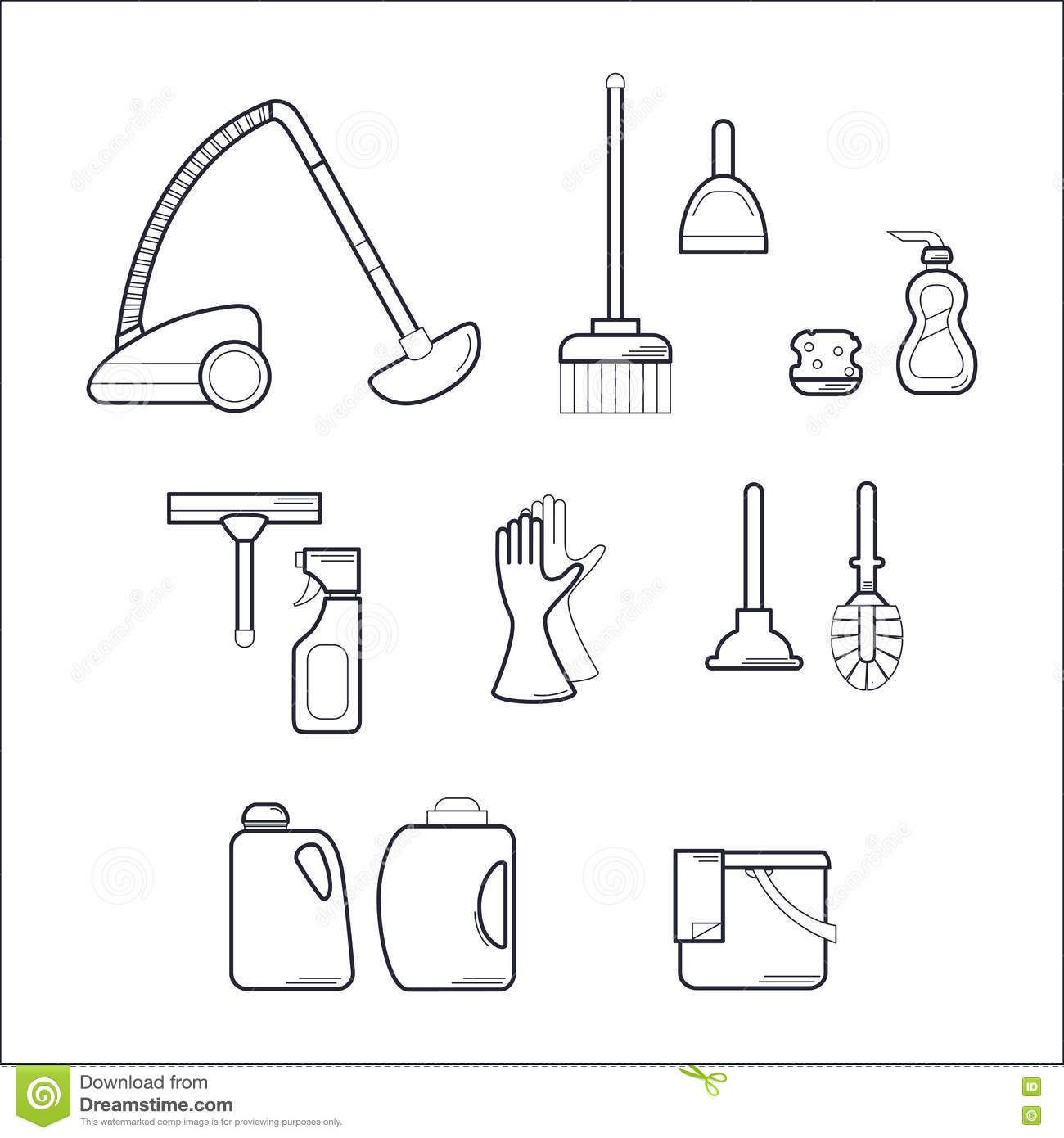 Vacuum Cleaner Icon Outline Style Vector Illustration