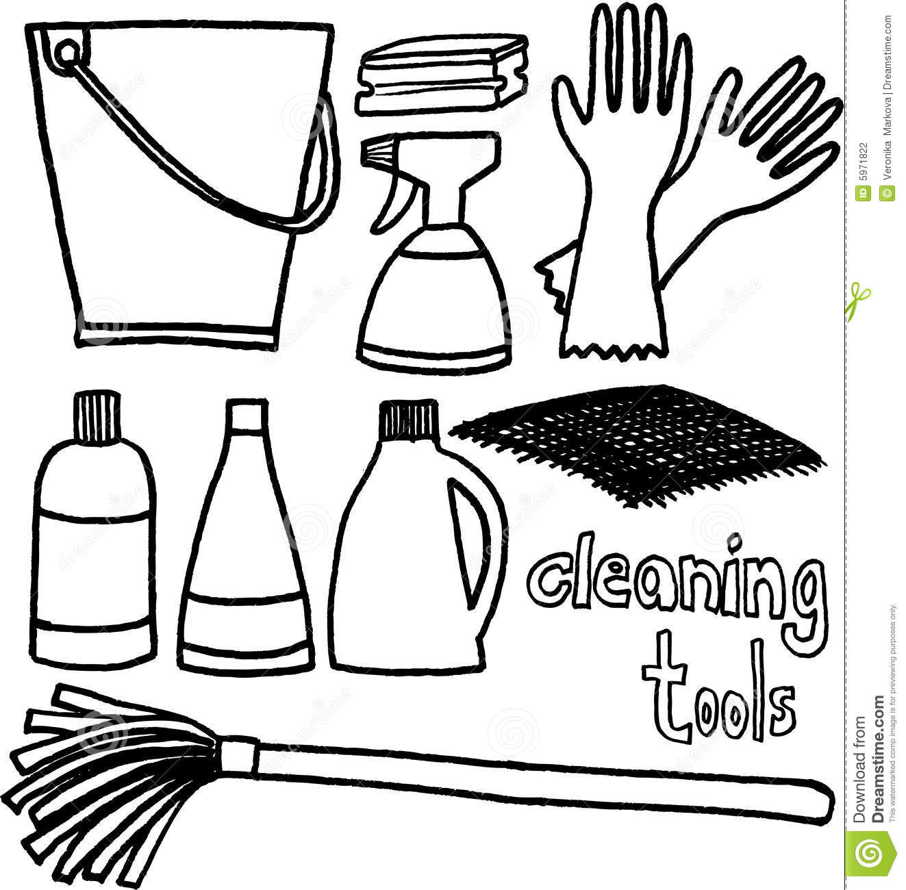 Cleaning Tools Stock Vector Image Of Swab Articles