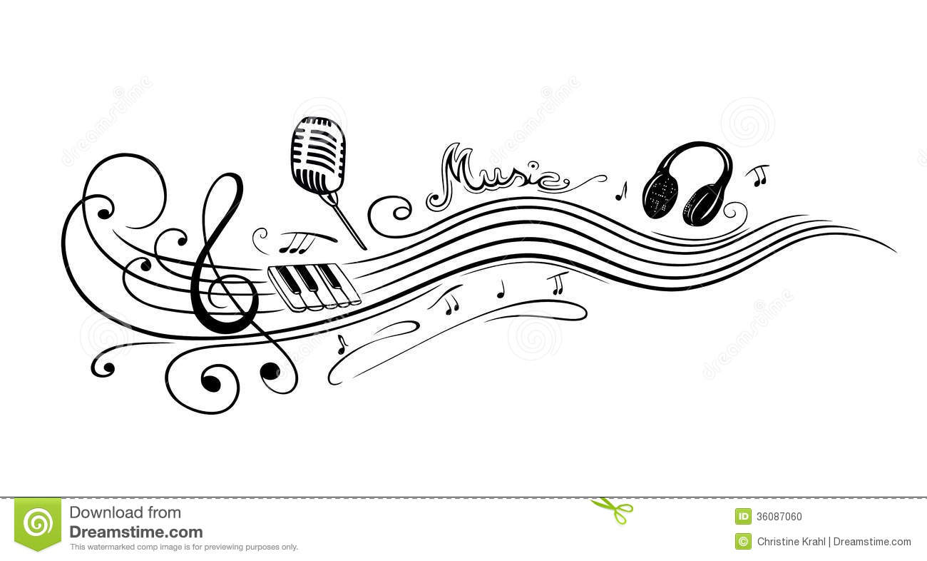 Clef Music Notes Stock Vector Illustration Of Keyboard