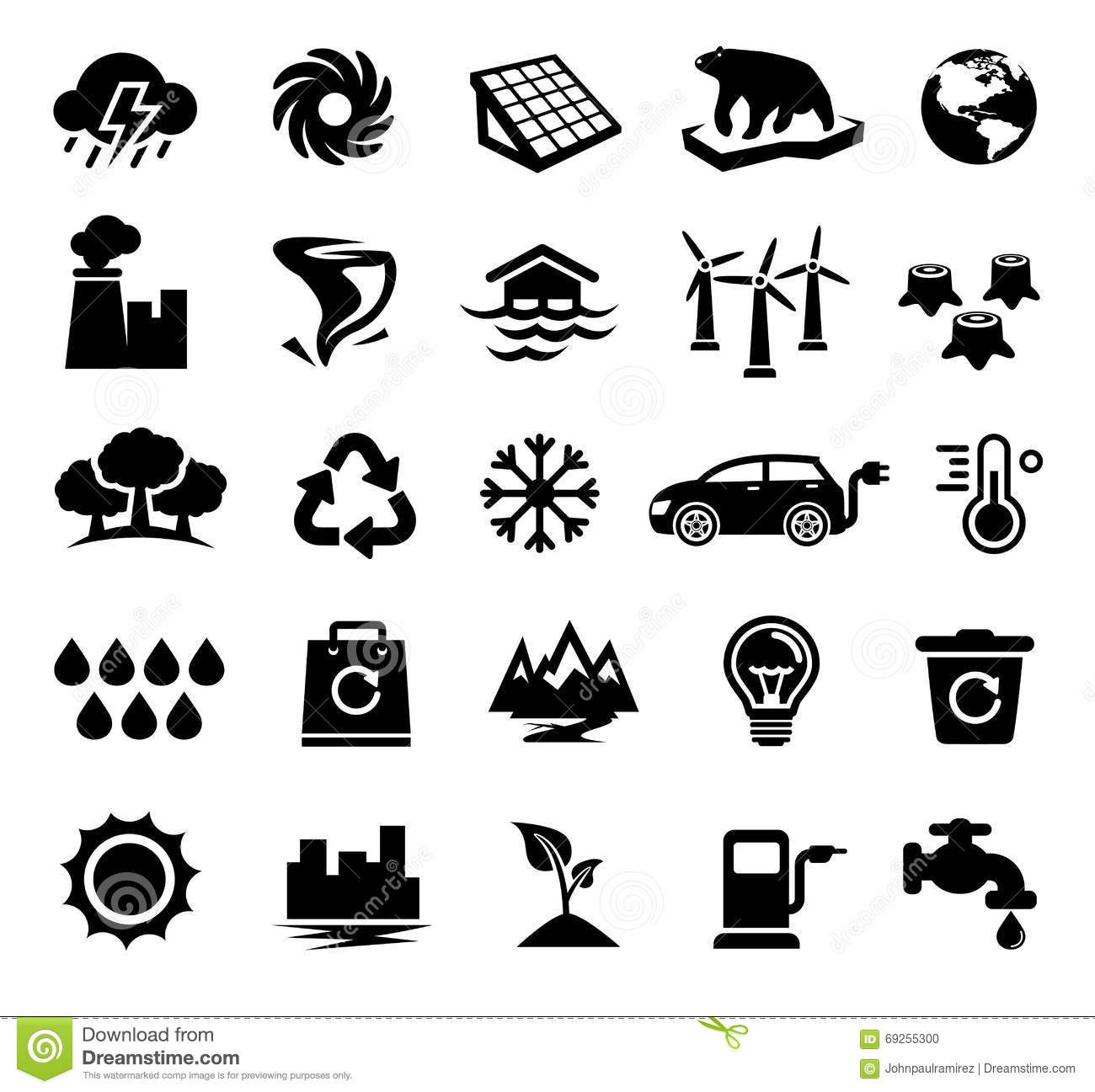 Climate Change Global Warming Ecology Environment Stock