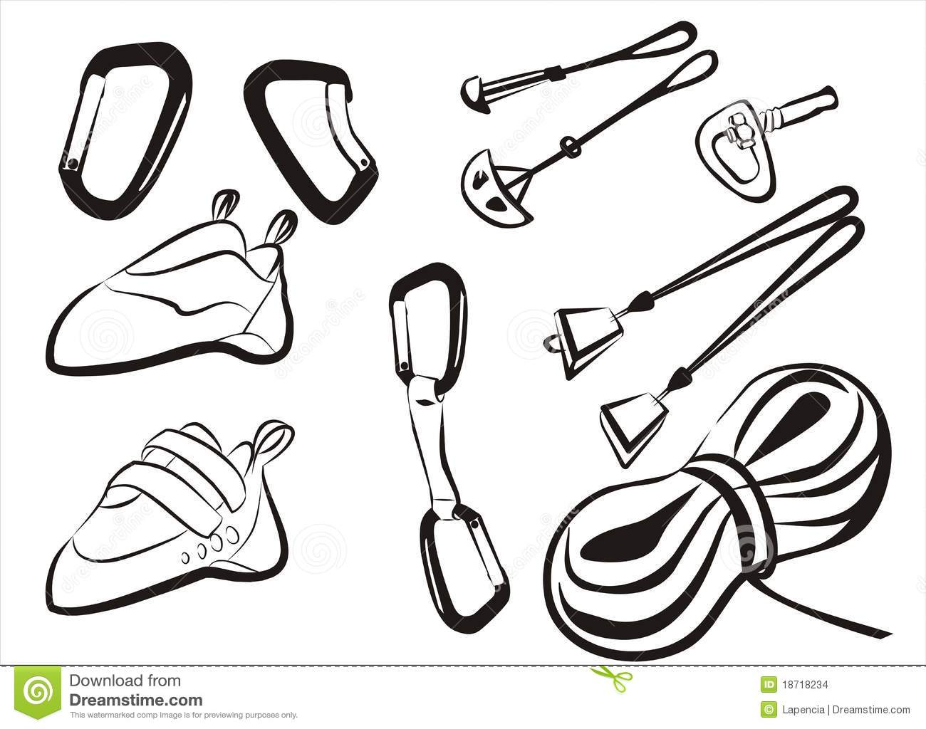 Climbing Equipment Goods And Stuff Stock Images