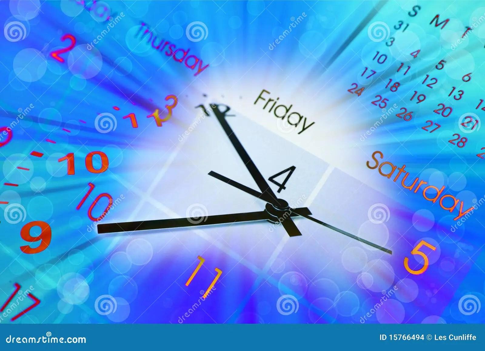 Clock And Calendar Stock Illustration Illustration Of