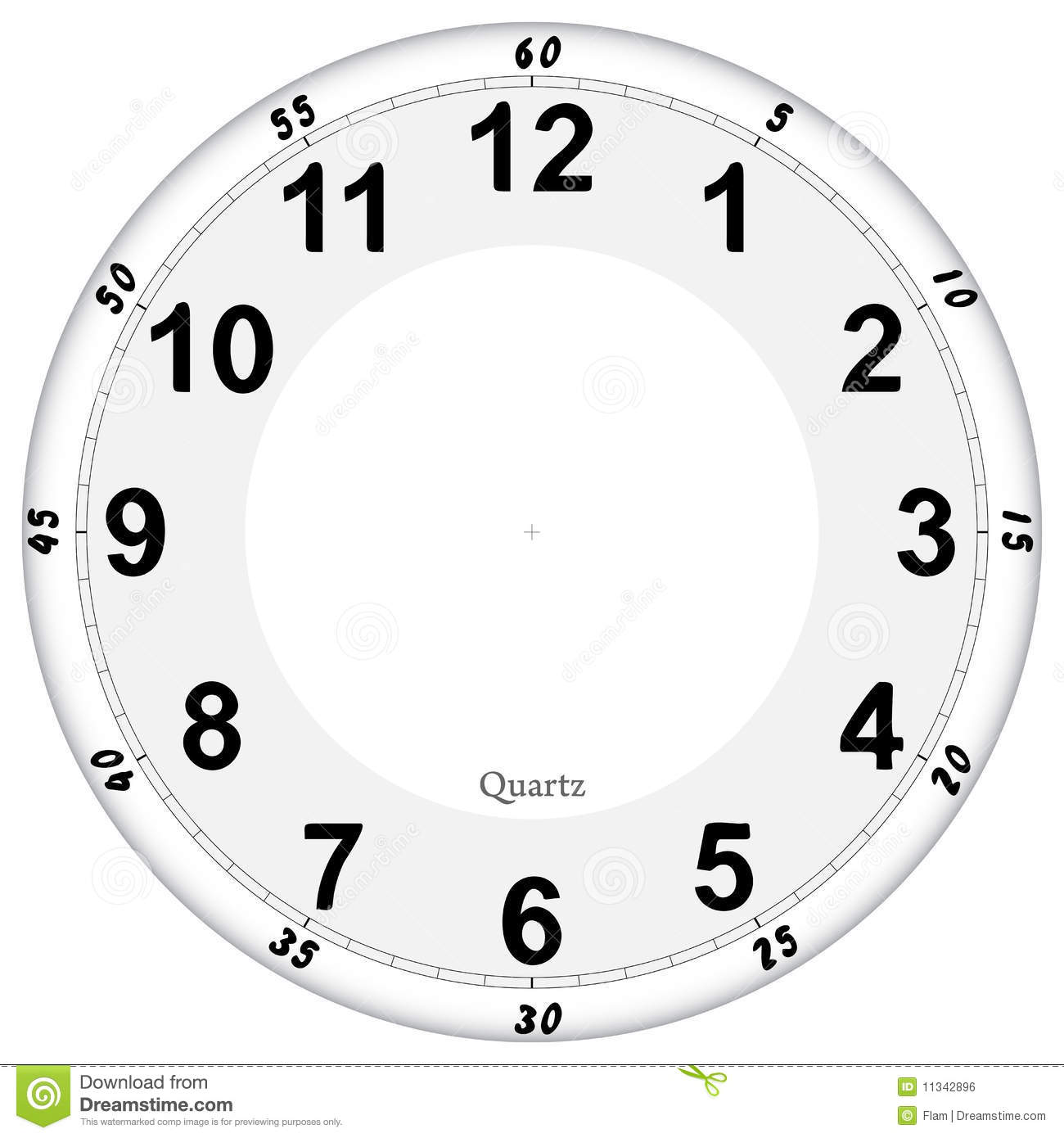 Clock Face Stock Vector Image Of Duration Wall Modern