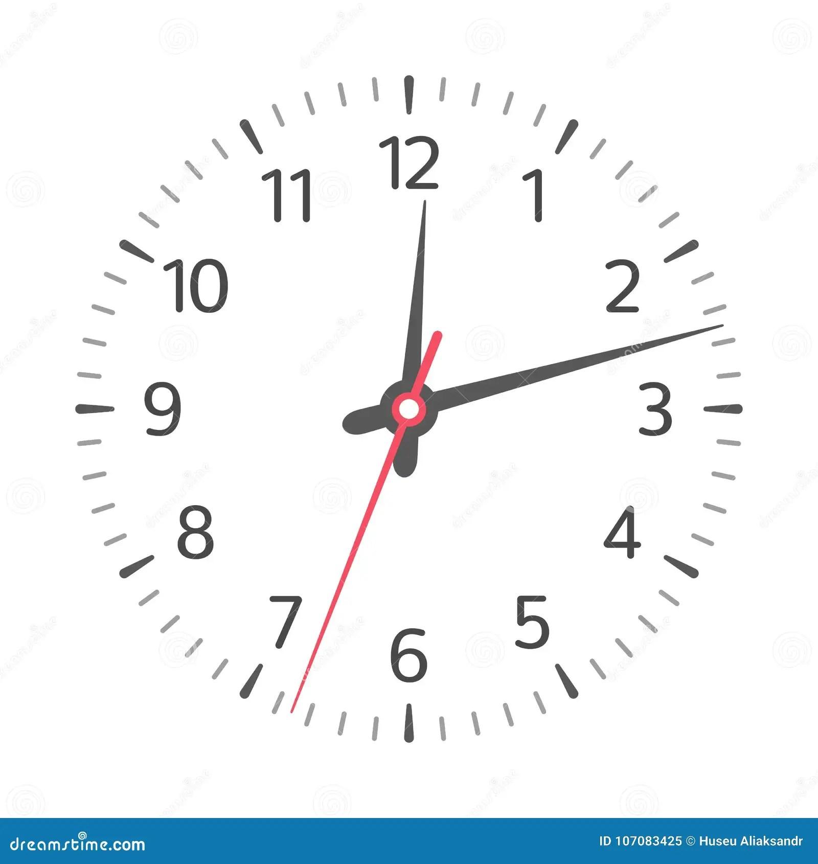 Clock Face Vector Stock Vector Illustration Of Arrow