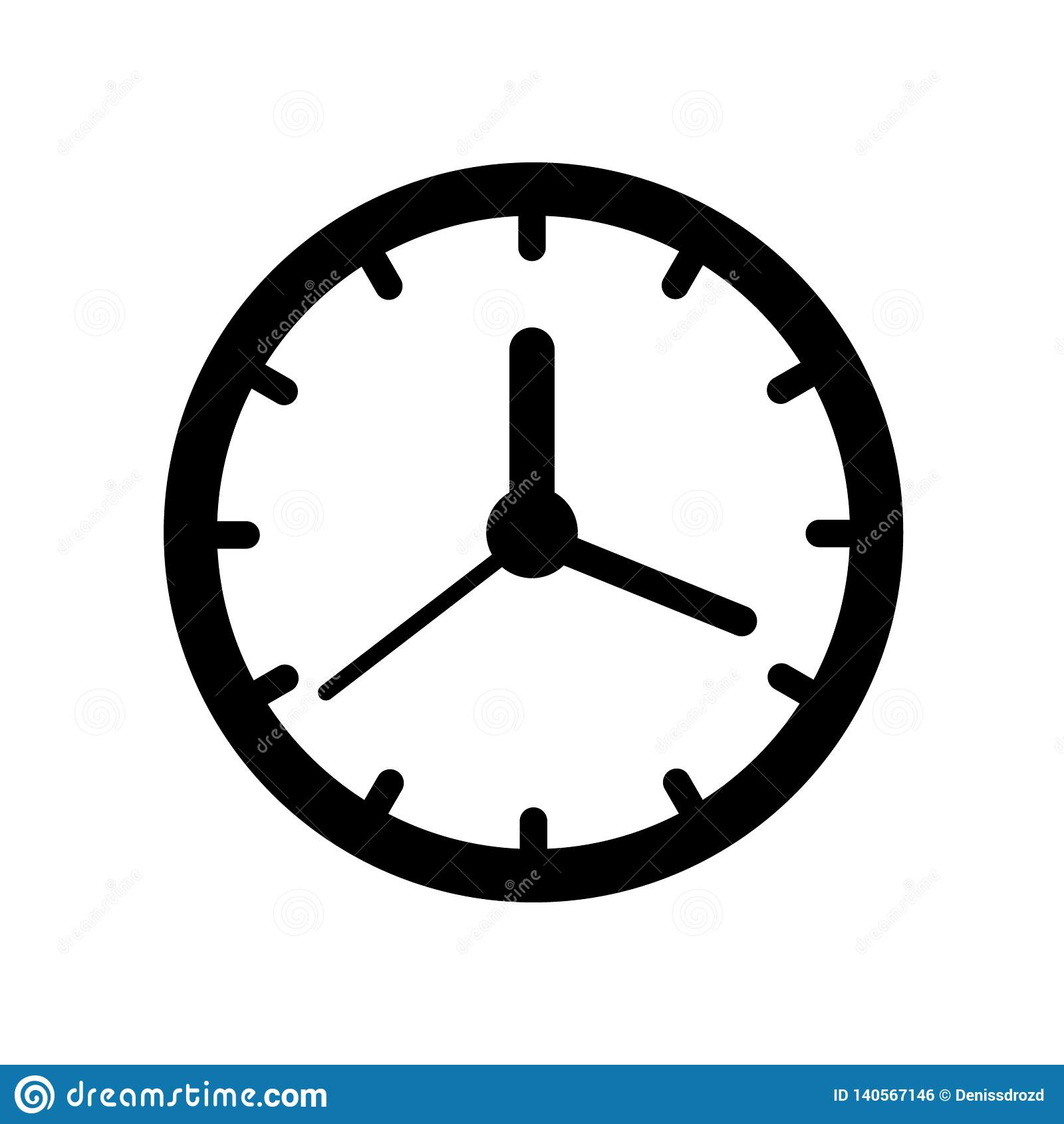 Clock Icon Time Icon Vector Illustration Stock Vector