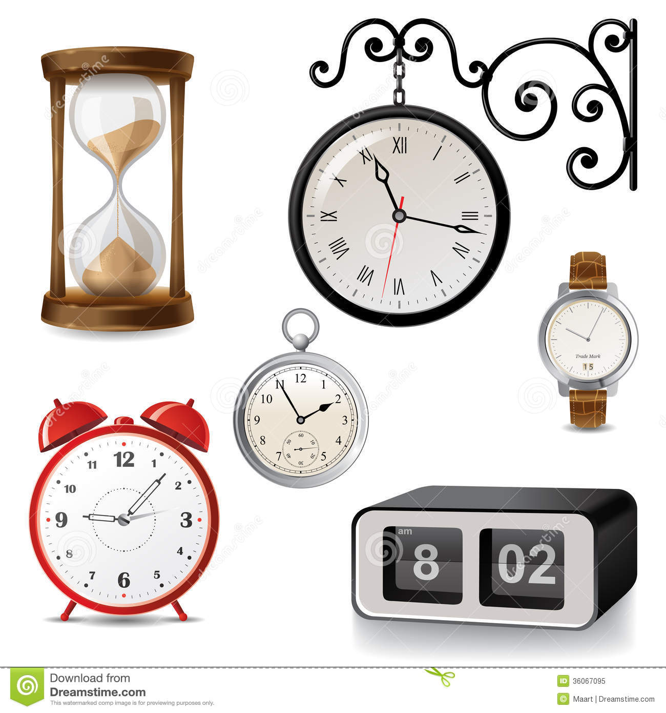 Types Of Clocks Worksheet