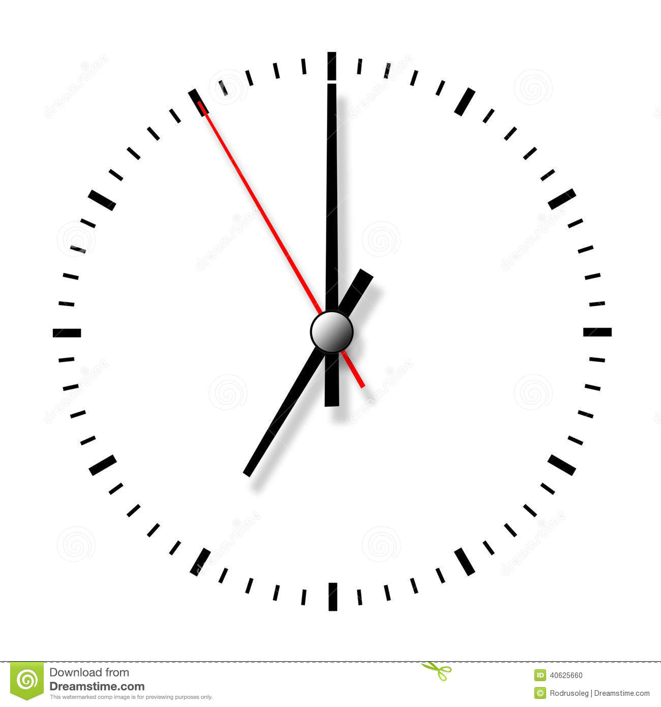 Clock Without Numbers Stock Illustration Illustration Of