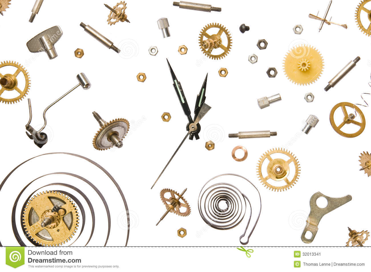 Clock Parts Stock Image Image Of Close Isolated Gearing