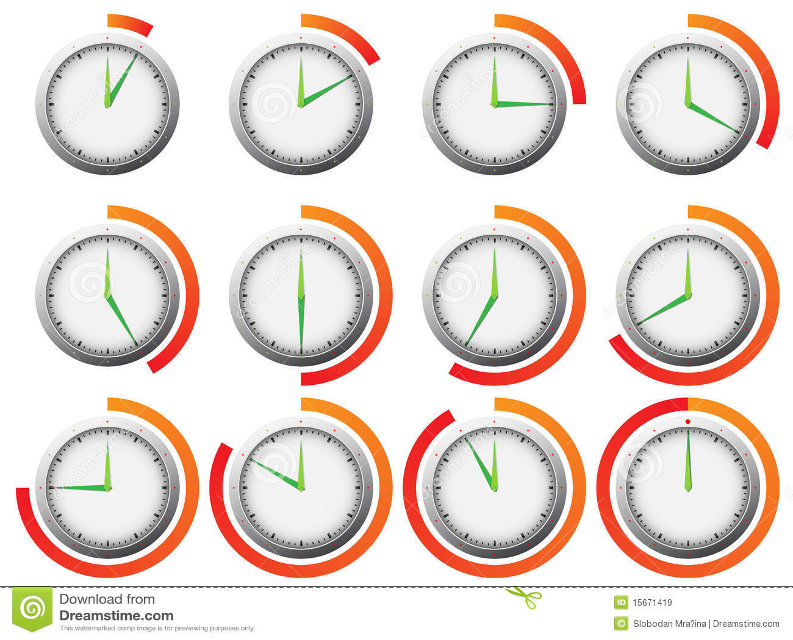 Clock Timer Stock Illustration Illustration Of Deadline