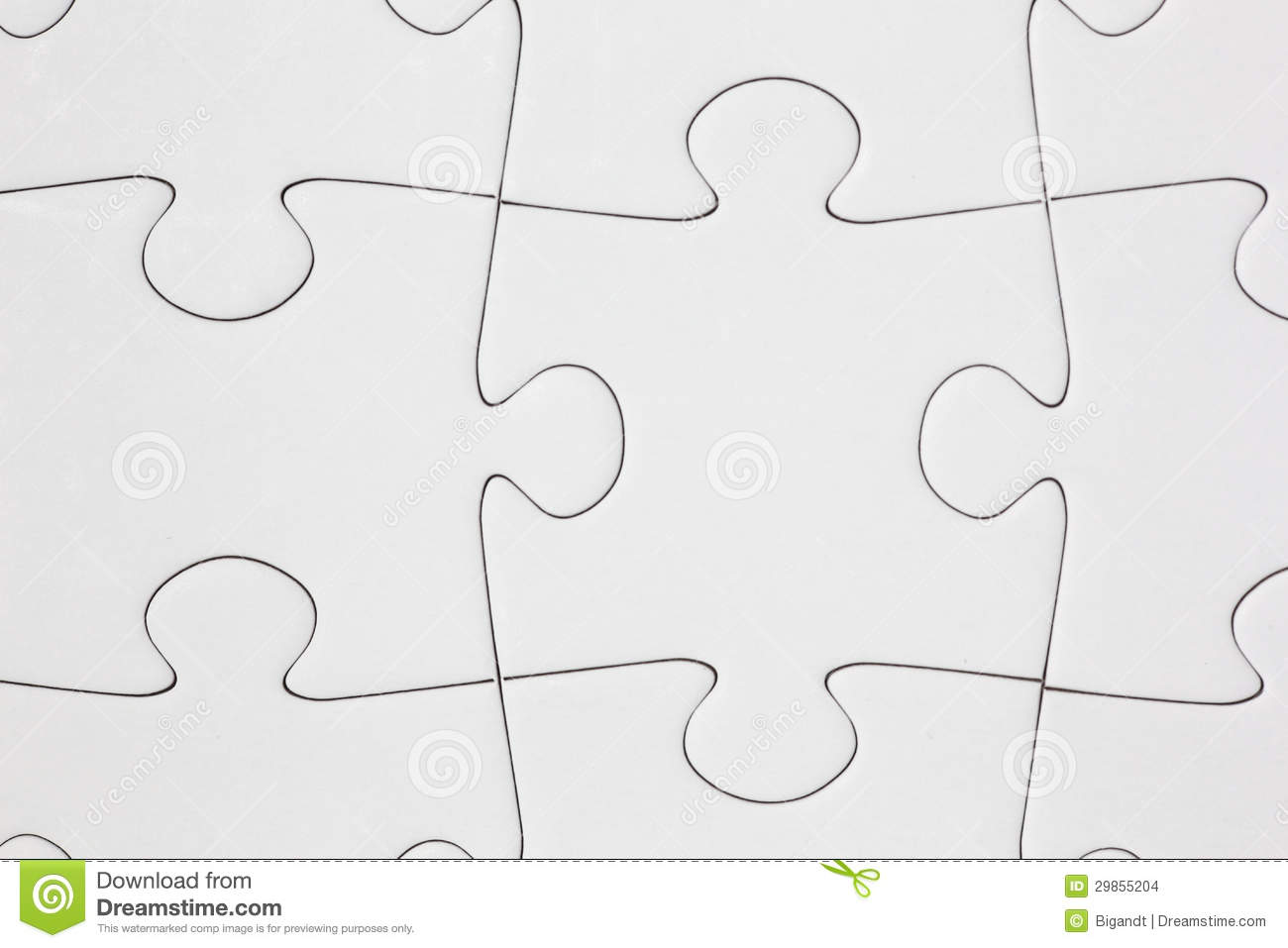 Blank Jigsaw Puzzle Close Up Stock Photo