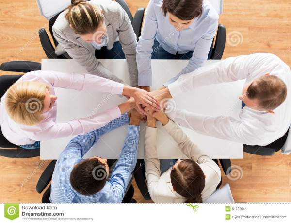 Close Up Of Business Team With Hands On Top Stock Photo ...