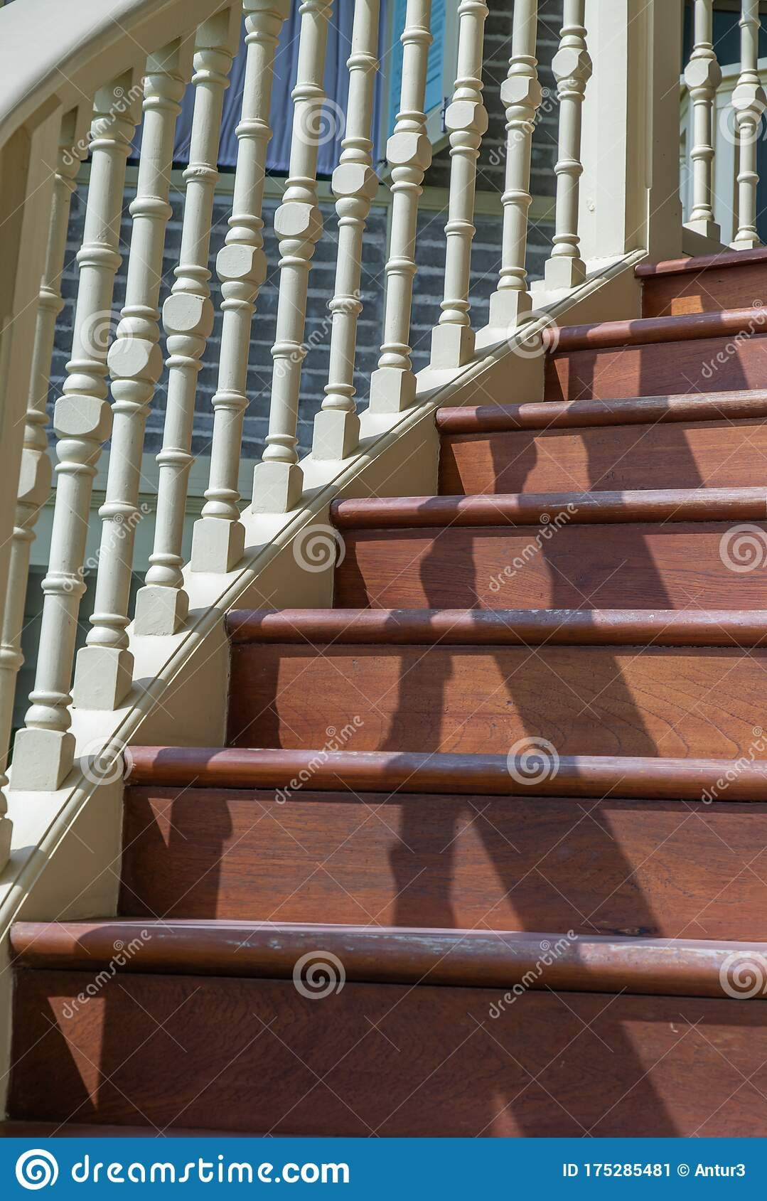 Close Up Of Vintage Wooden Staircase Railing Stock Image Image | Antique Handrails For Stairs | Antique Brass | Wood | Antique Green | Antique Furniture | Architectural Antiques