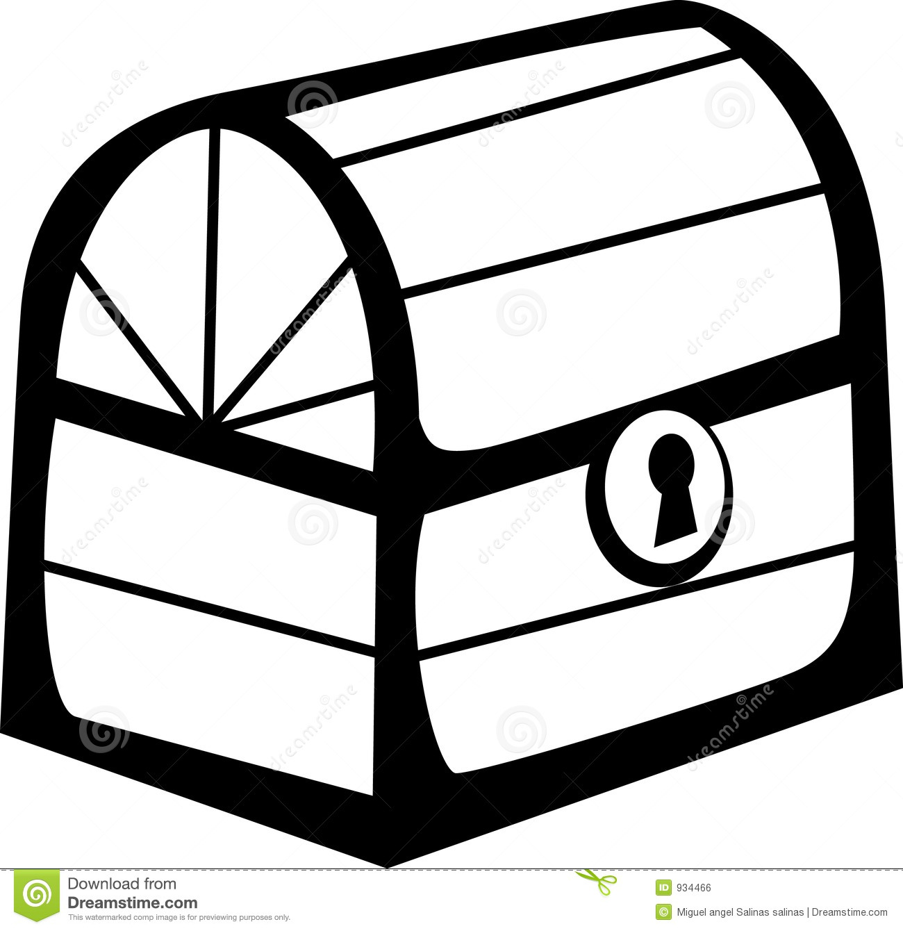Closed Wooden Chest Vector File Format Available Stock