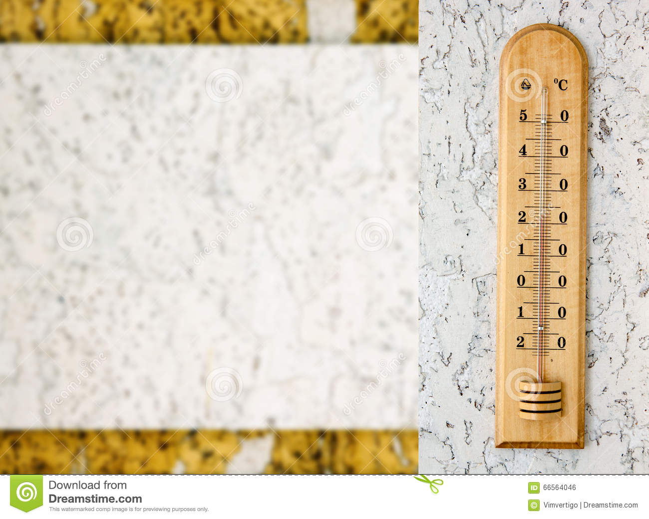 Closeup Photo Of Household Alcohol Thermometer Showing