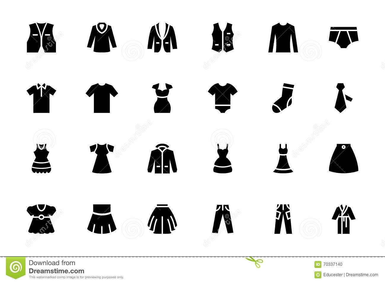 Clothes Vector Icons 2 Stock Illustration Illustration Of