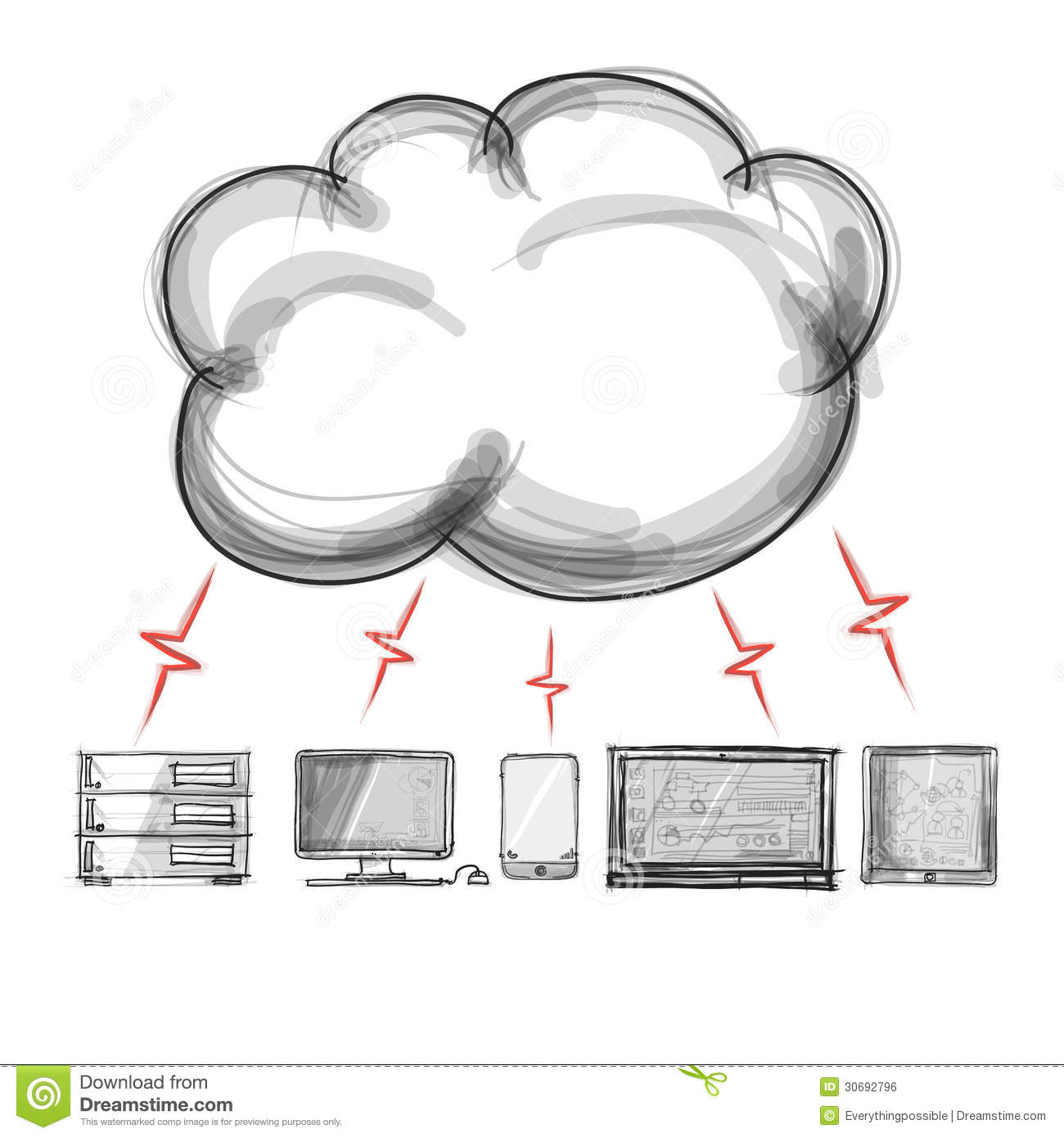 A Cloud Computing Diagram Stock Illustration Illustration