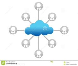 Cloud Computing Network Diagram Illustration Stock