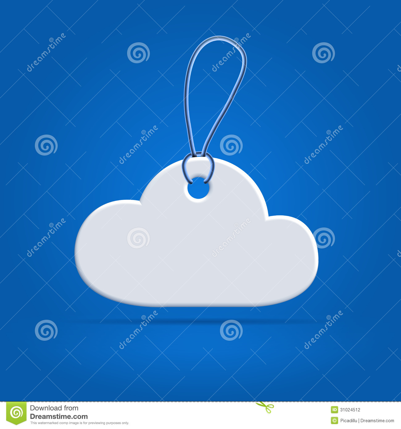 Cloud Shaped Tag Label Stock Vector Illustration Of