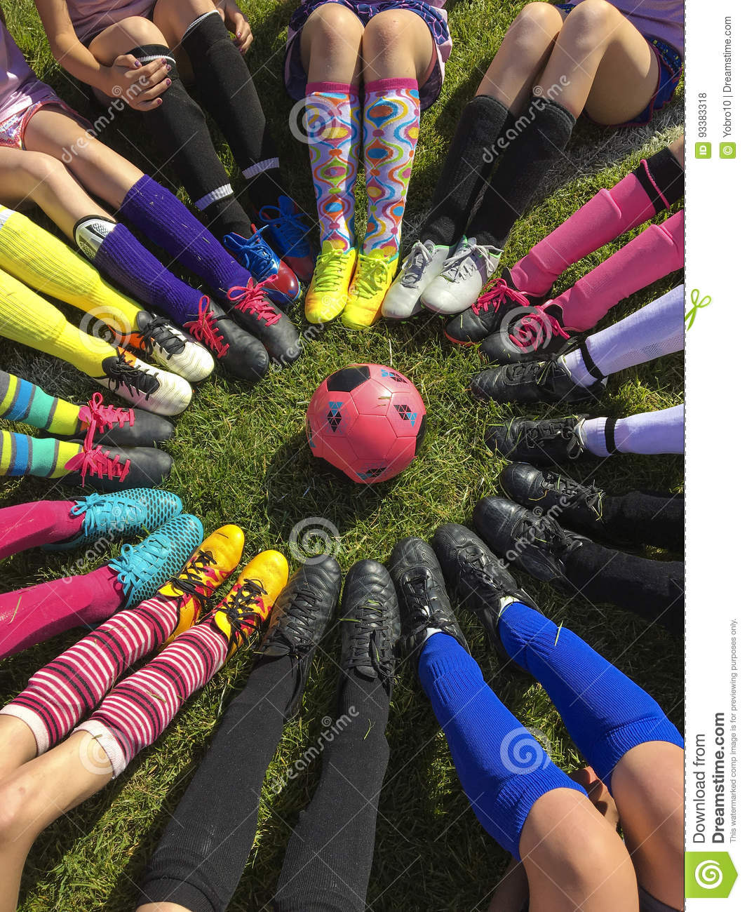 Soccer Knees Team Shoes Picture Funny