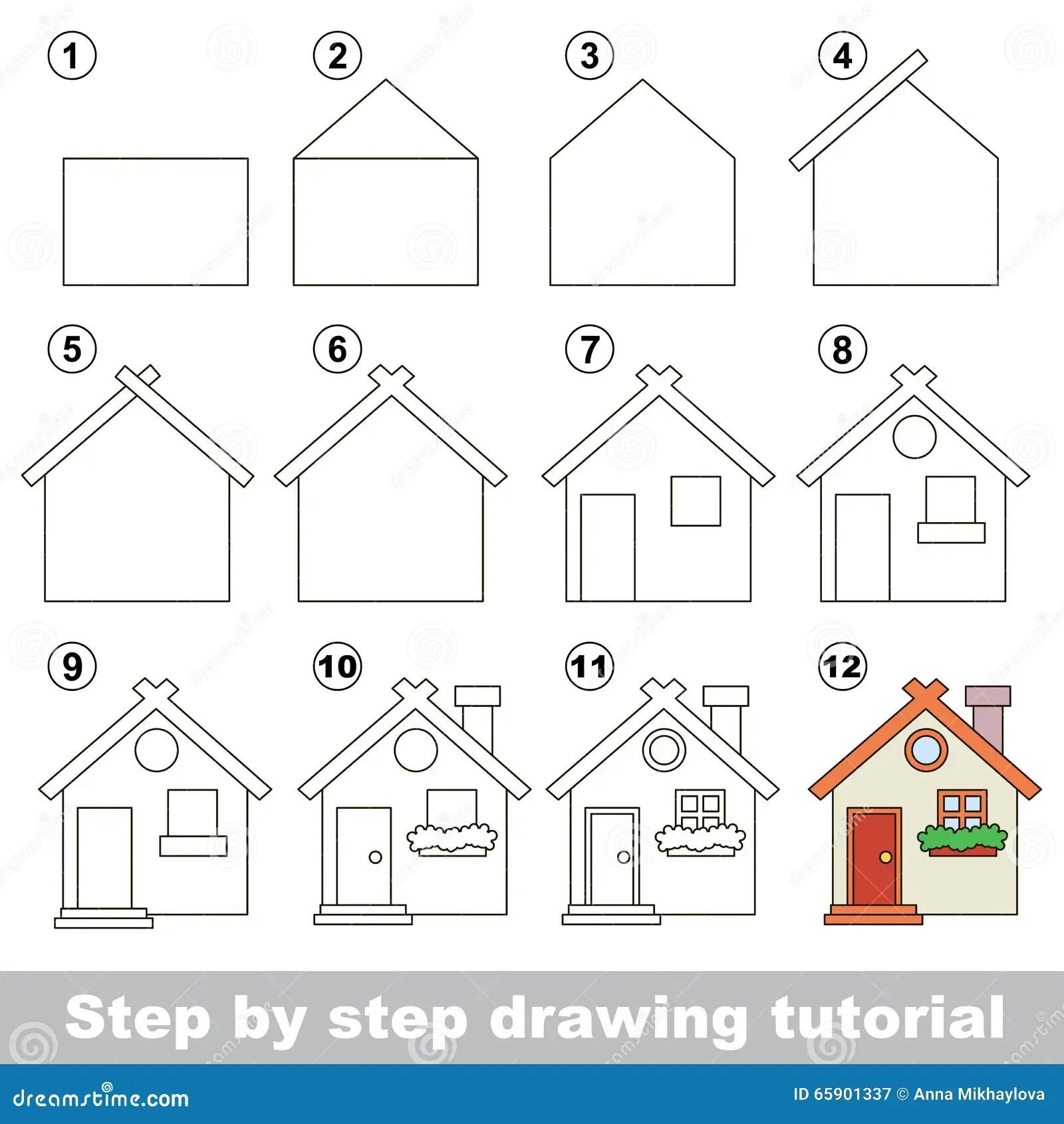 Como Dibujar A Toy House Ilustracion Del Vector