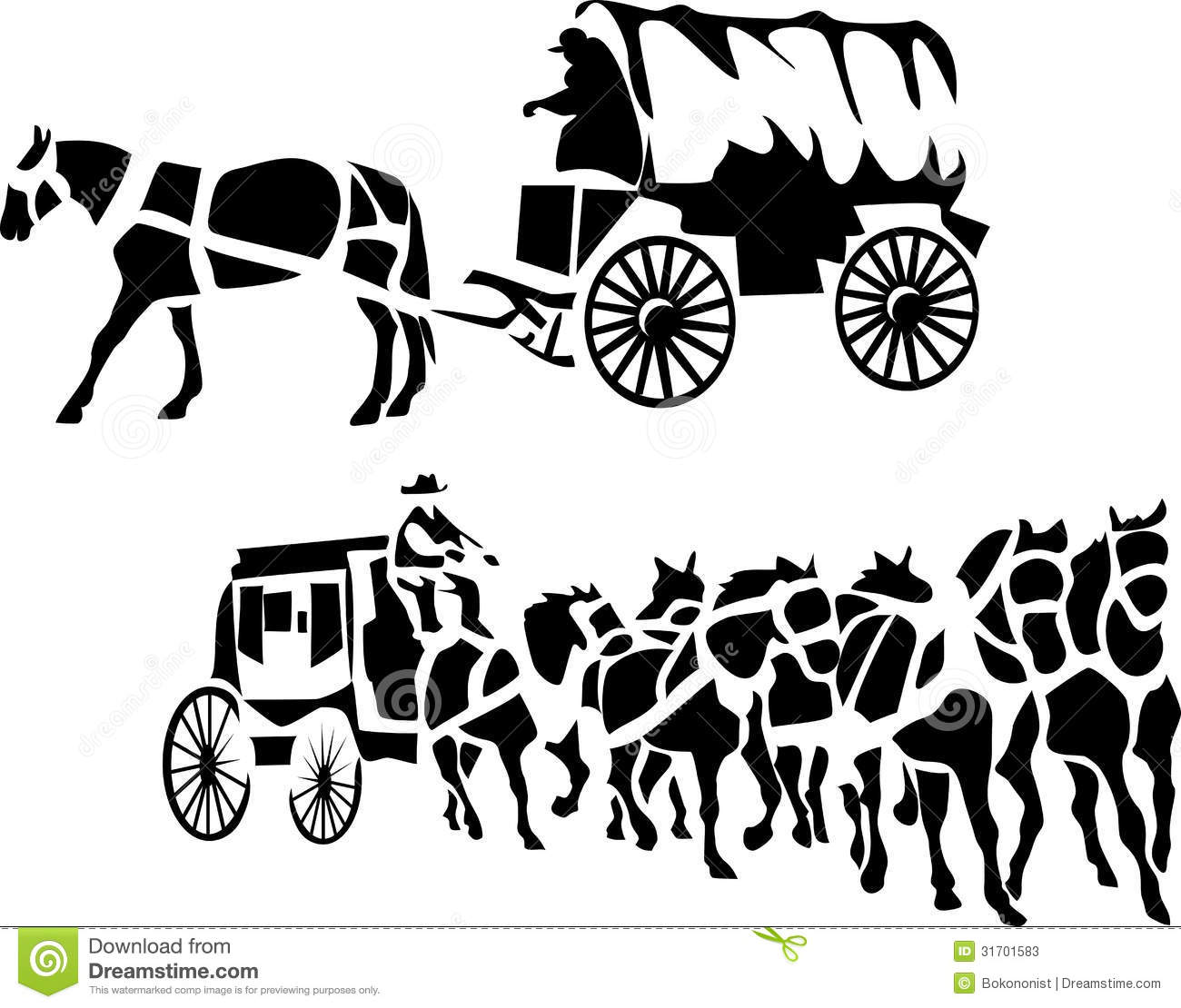 Western Stagecoach 1 Royalty Free Stock Photo