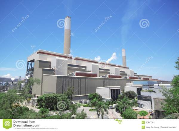 Coal fired power station stock image. Image of industrial ...