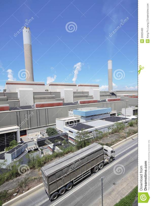 Coal Fired Power Station And Car Moving Stock Photos ...