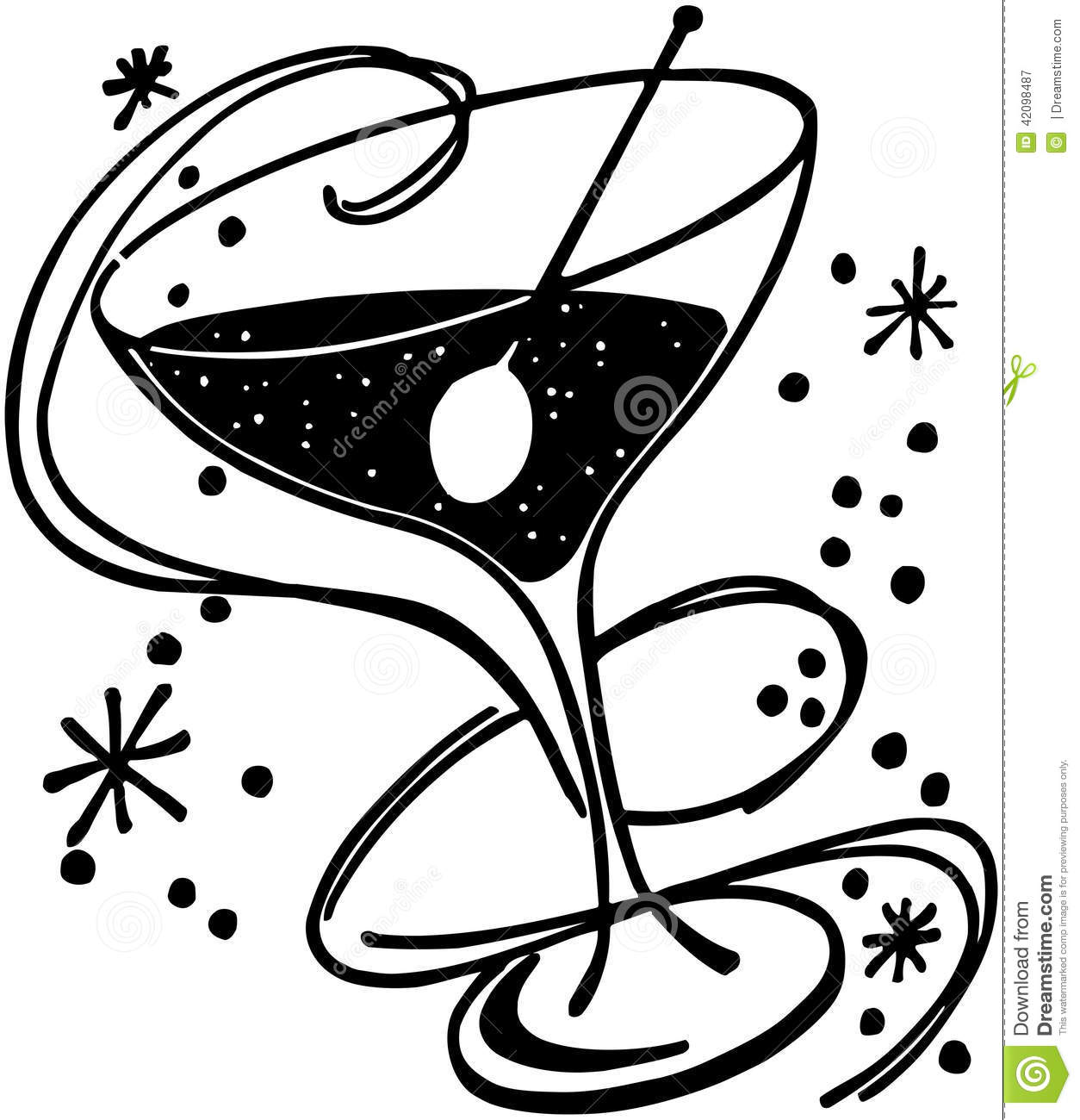 Cocktail Glass Stock Vector