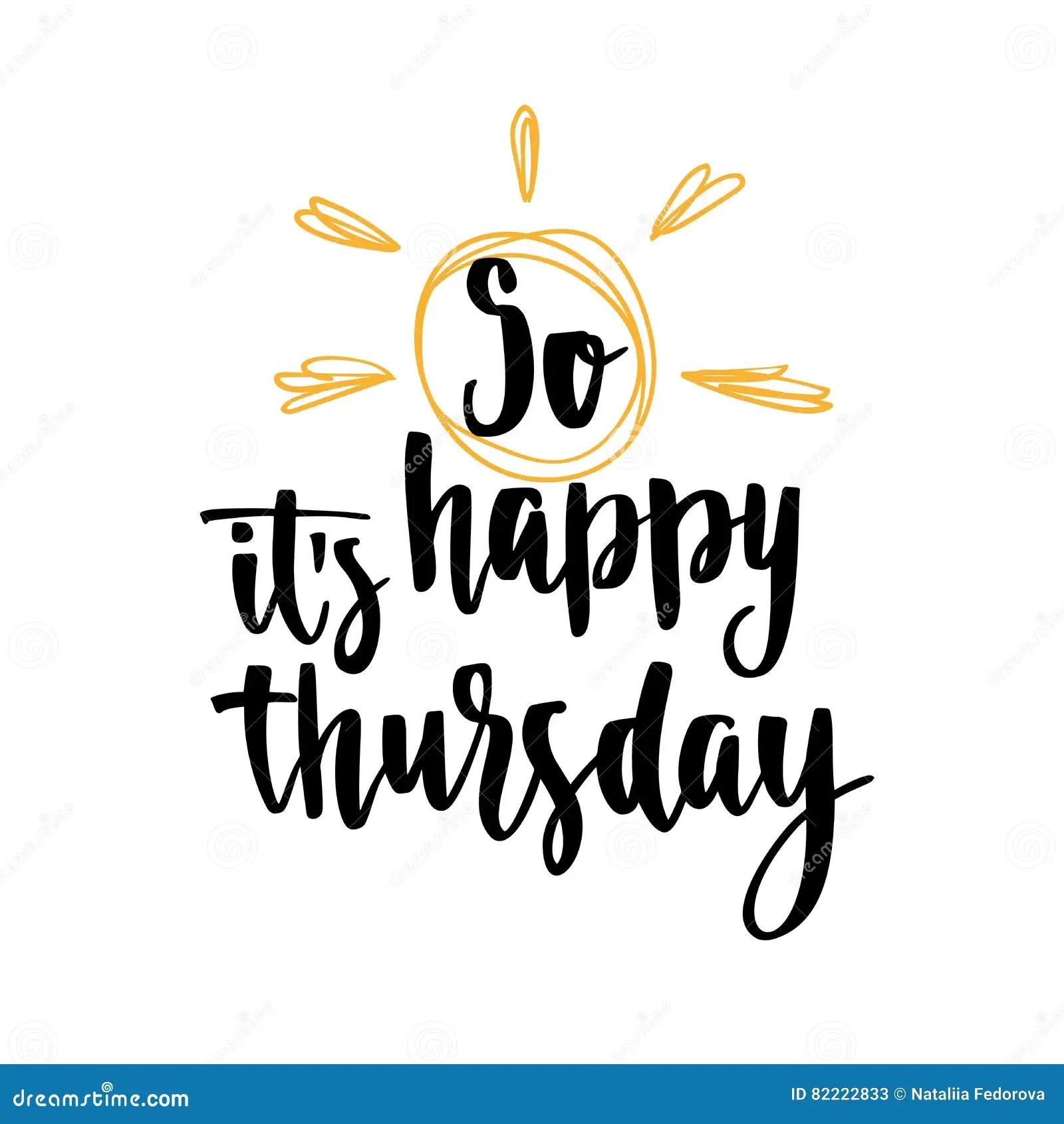 Thursday Day Week Comic Sound Vector Illustration