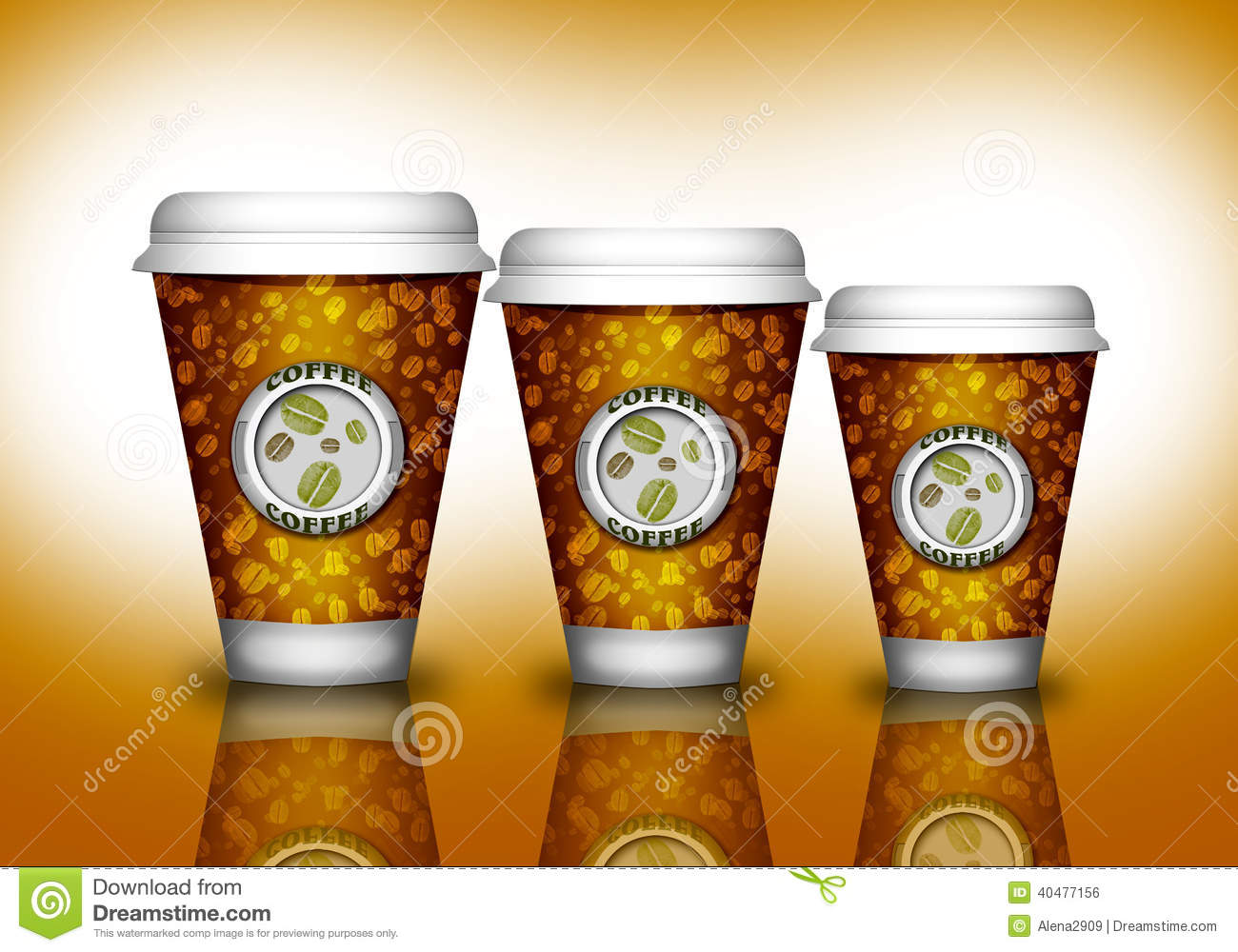 Coffee Paper Cup Stock Illustration Image Of Cream