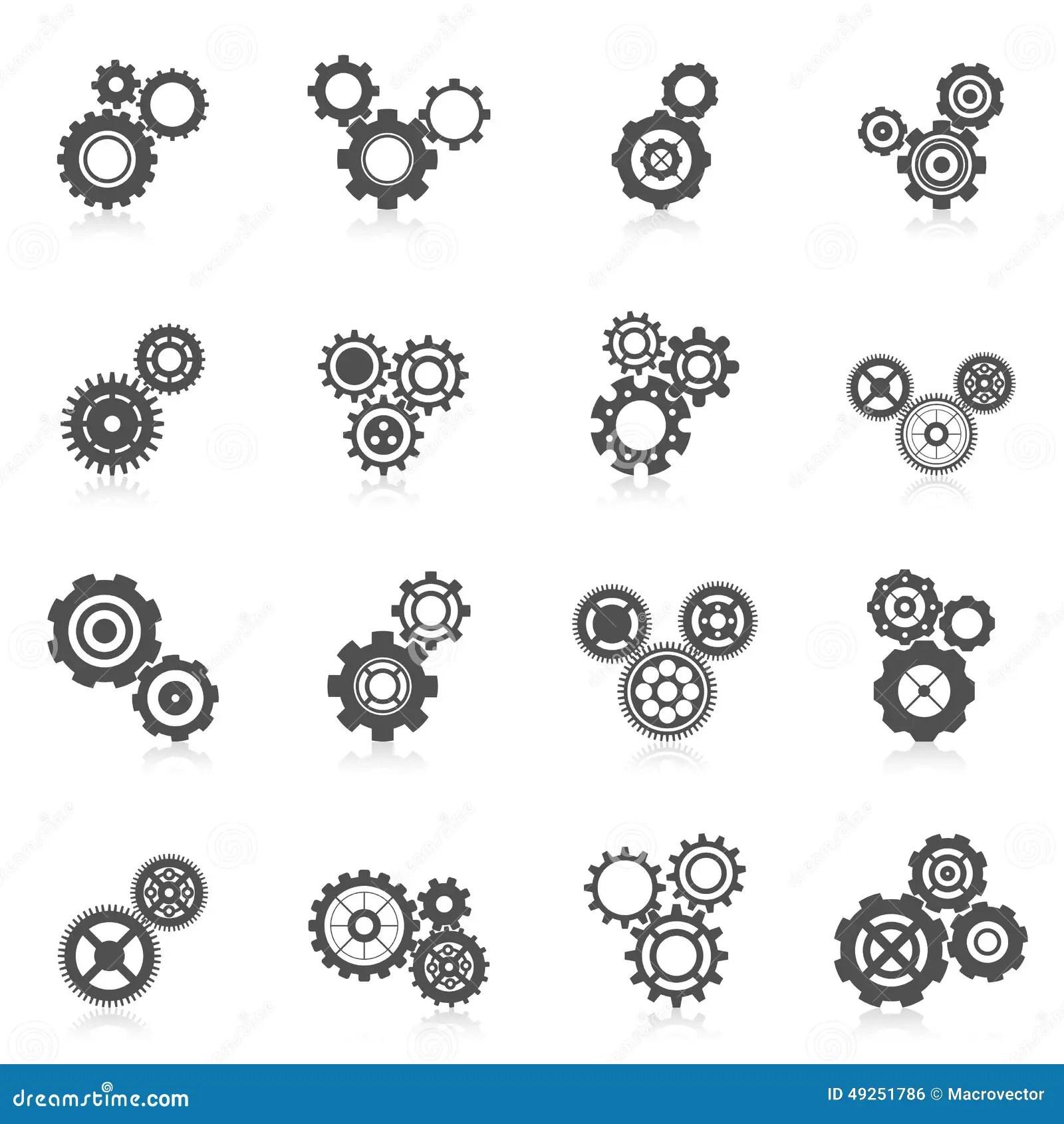 Cog Wheel Icon Stock Vector
