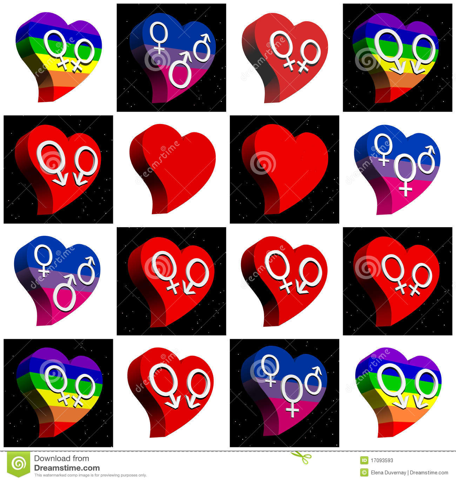 Colagem Para Todos Os Tipos Do Amor Fotos De Stock