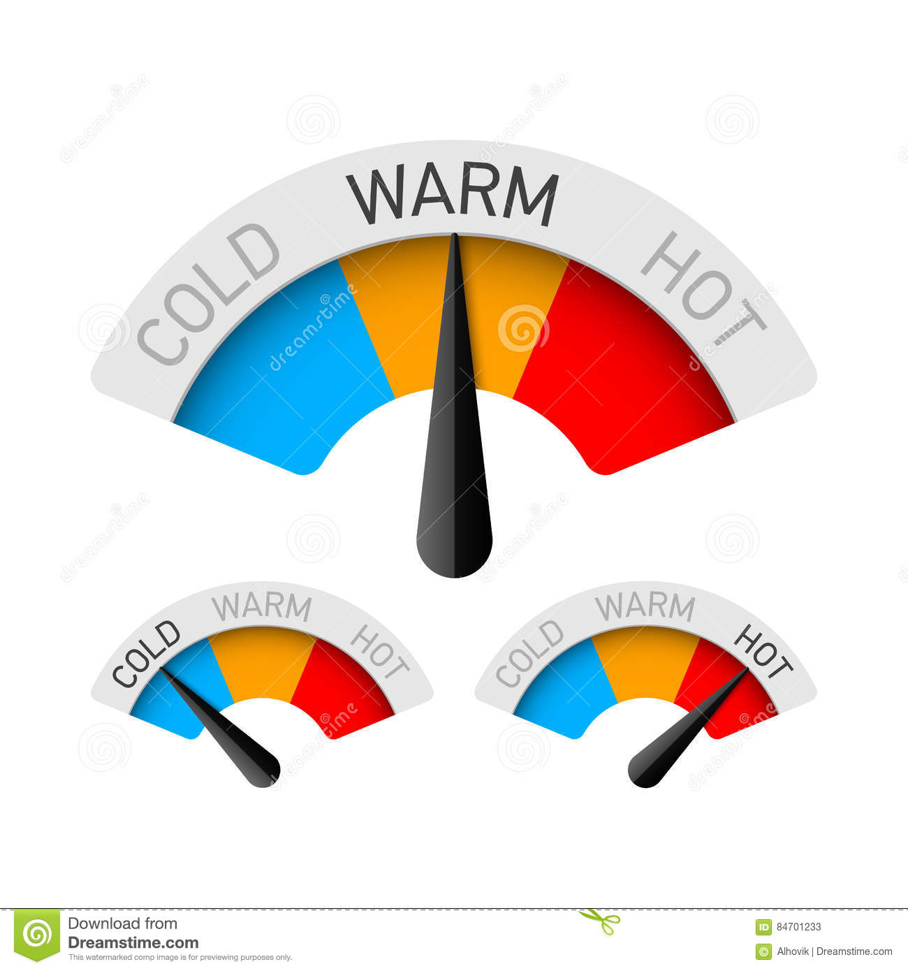 Hot And Cold Temperature Symbol Vector Illustration