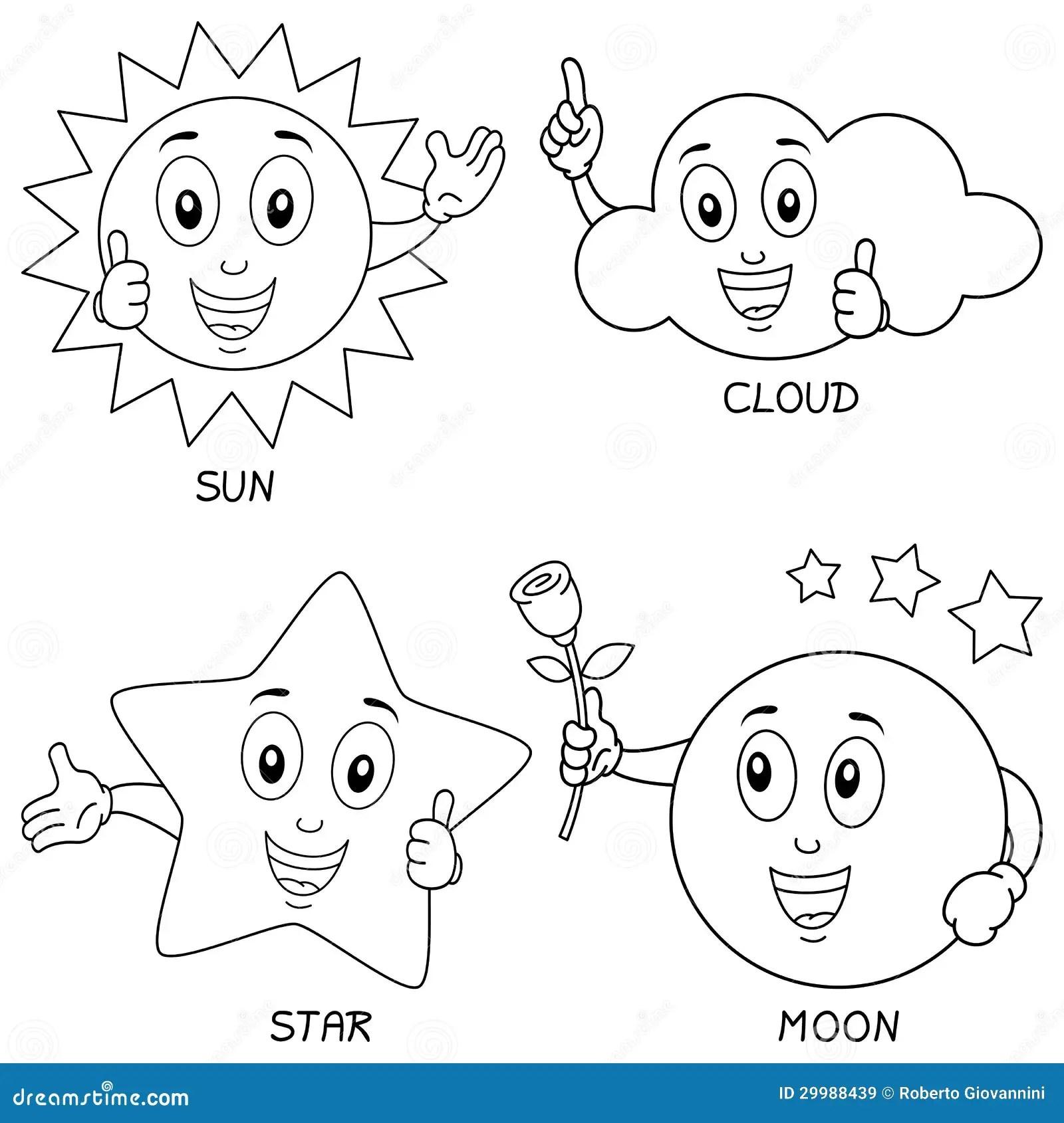 Caracteres Del Tiempo Del Colorante Ilustracion Del Vector