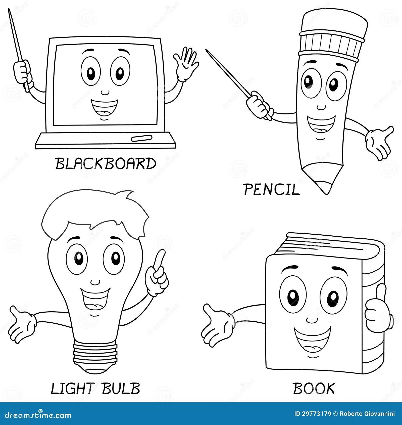 Colorindo A Aprendizagem De Carateres Imagens De Stock