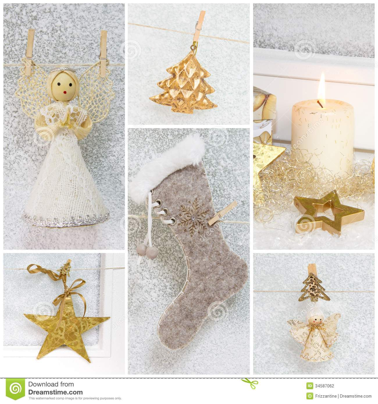 Collage Of Different Photos For Christmas Idea For