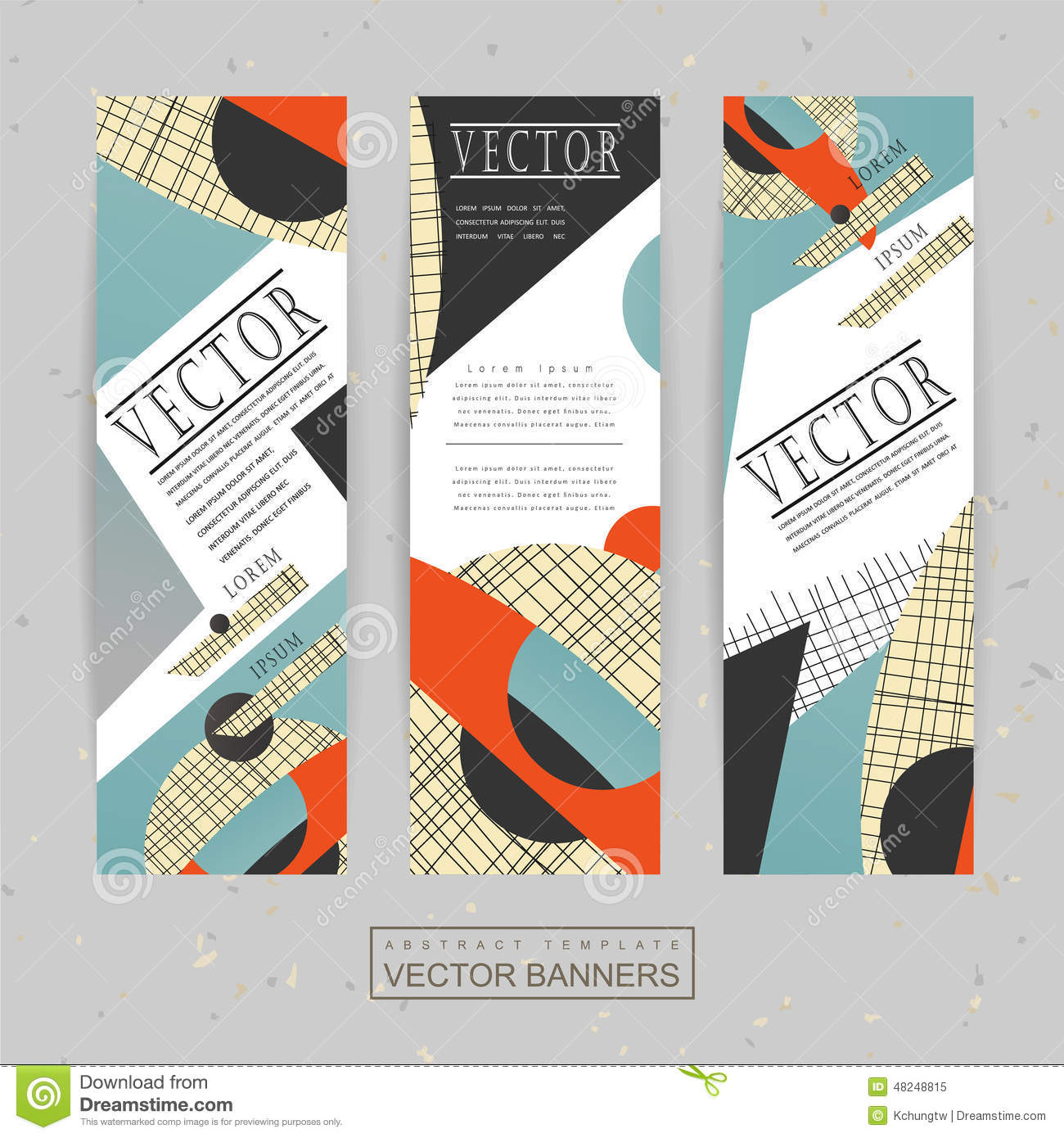 Collage Style Banner Template Design Stock Vector Image