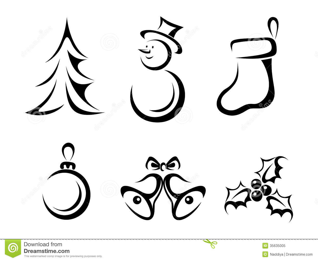 Collection Of Christmas Elements Stock Vector
