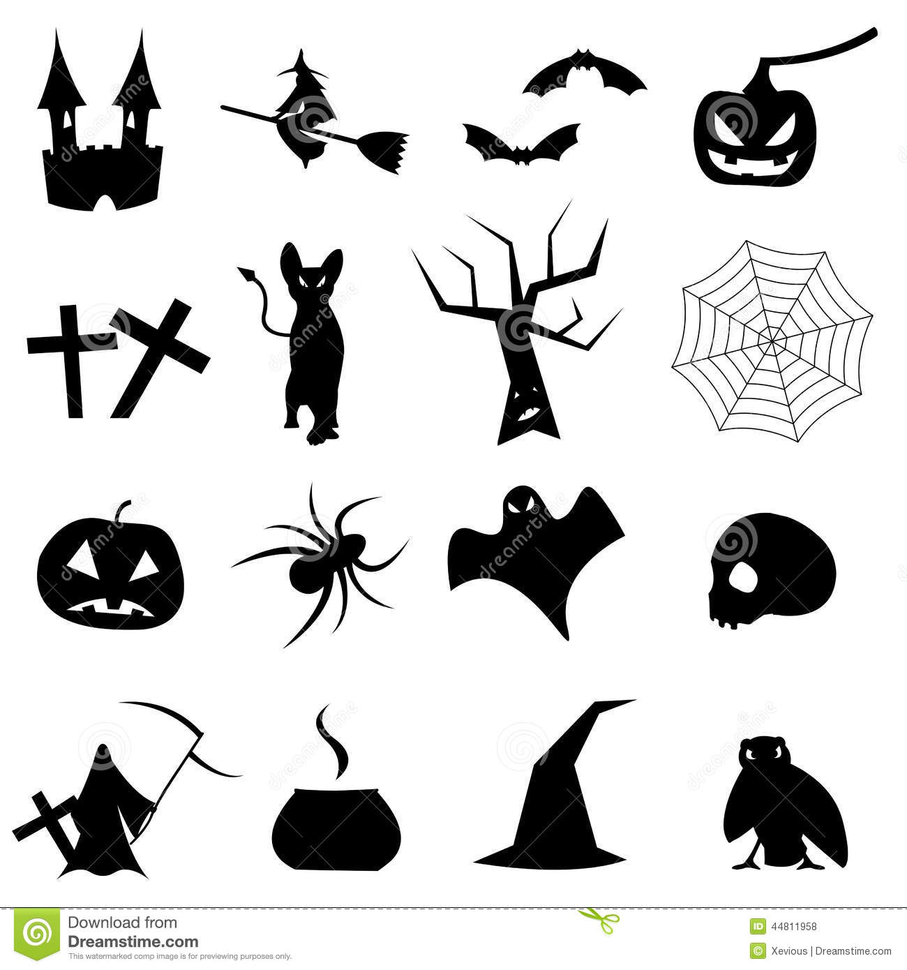 Collection De Formes Pour Halloween Illustration Stock