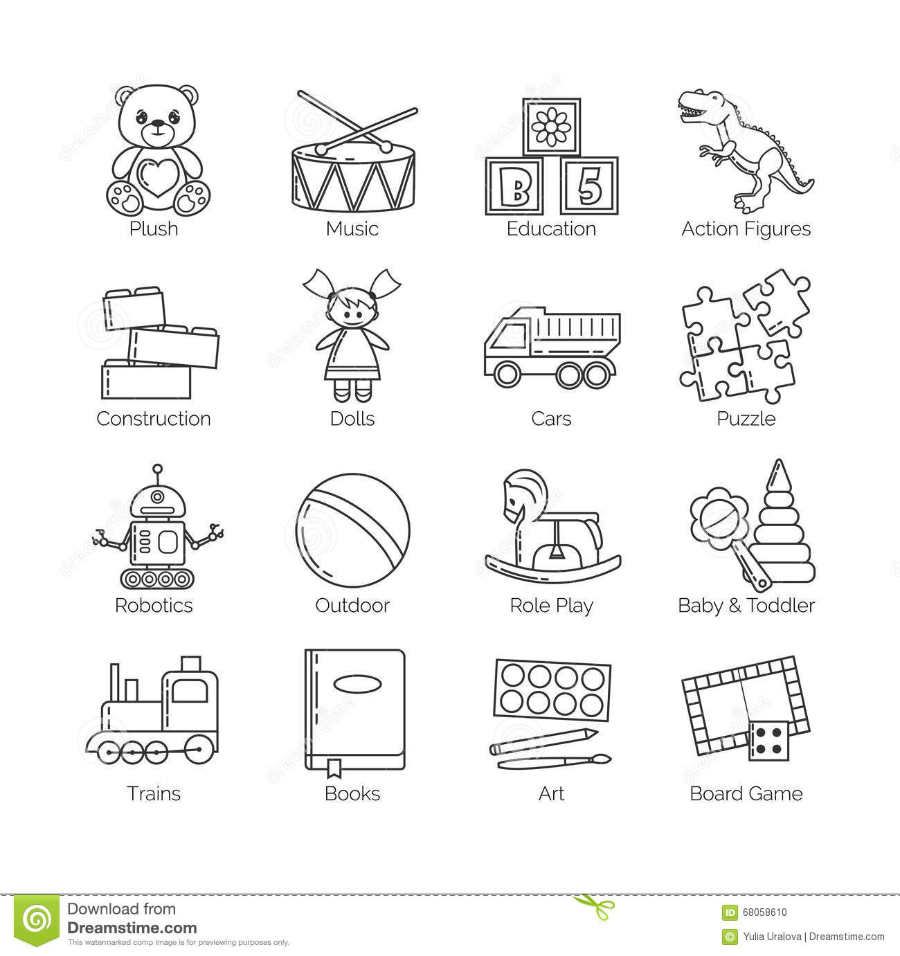 Worksheet On Toys