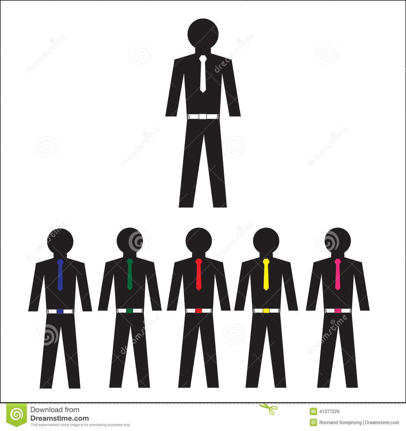 Collection Of Office Workers Icon Stock Vector
